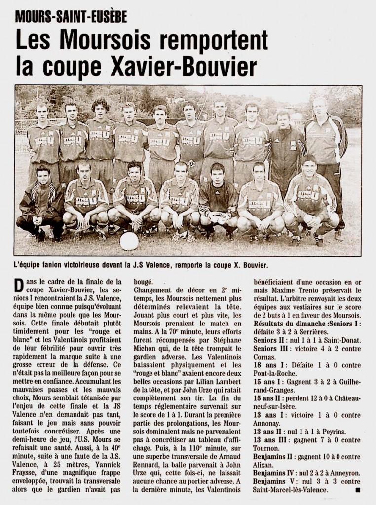 Les séniors, vainqueurs de la coupe en 2004